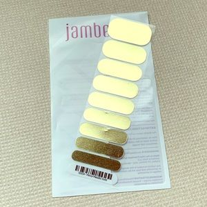 Jamberry Half Sheet - Mirror Metallic Gold